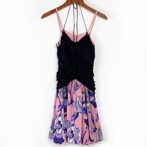Marc Jacobs Pink and Purple Floral Silk Dress